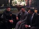 Anurag Thakur and MS Dhoni at Yuvraj Singh's wedding reception, Delhi, December 7, 2016
