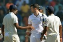 R Ashwin and James Anderson have a chat after India's victory, India v England, 4th Test, Mumbai, 5th day, December 12, 2016