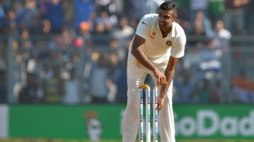 R Ashwin flips a bail off after India's win