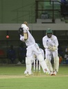 Shai Hope executes a back-foot drive, Guyana v Barbados, Regional 4 Day Tournament, day 3, Providence, December 11, 2016