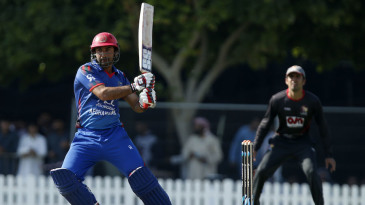 Asghar Stanikzai tucks the ball to the leg side