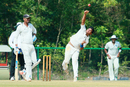 Sunny Gupta puts in some effort to bowl against Odisha, Jharkhand v Odisha, Ranji Trophy 2016-17, Group B, Thumba, 1st day, December 15, 2016