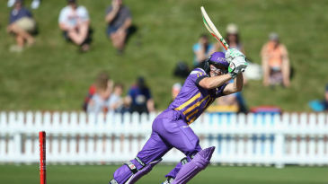 Henry Nicholls in action at the Basin Reserve