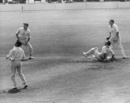 Sid O'Linn pulls for six, England v South Africa, 4th Test, Old Trafford, 4th day, July 25, 1960