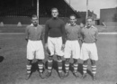Sid O'Linn (second from right) with some Charlton Athletic team-mates, London, August 9, 1949