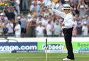 Umpire Tony Hill raises his finger, England v Australia, 3rd Investec Test, Old Trafford, 1st day, August 1, 2013