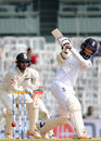Moeen Ali powers one through the leg side, India v England, 5th Test, Chennai, 2nd day, December 17, 2016
