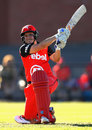 Kris Britt hits out during her knock of 51 off 49, Melbourne Renegades v Hobart Hurricanes, Women's Big Bash League, Bendigo, December 17, 2016