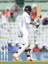 Adil Rashid brought up his second Test fifty, India v England, 5th Test, Chennai, 2nd day, December 17, 2016