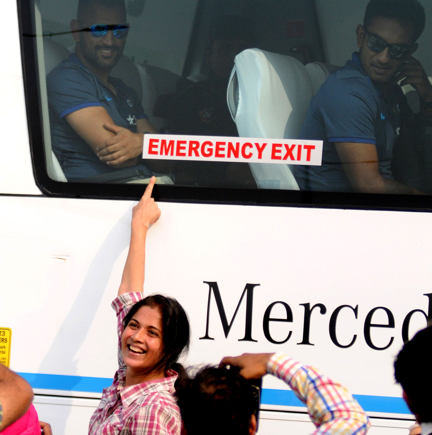 The Indian players are mobbed wherever they go, and have to find refuge in security-heavy team hotels and buses