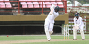 Raymon Reifer drives down the ground, Guyana v Trinidad & Tobago, WICB Professional Cricket League Regional 4-Day Tournament, 2nd day, Providence, December 17, 2016