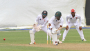 Leon Johnson pushes into the leg side, Guyana v Trinidad & Tobago, WICB Professional Cricket League Regional 4-Day Tournament, 2nd day, Providence, December 17, 2016