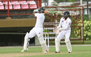 Shivnarine Chanderpaul plays a pull shot during his century, Guyana v Trinidad & Tobago, WICB Professional Cricket League Regional 4-Day Tournament, 2nd day, Providence, December 17, 2016