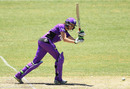 Amy Satterthwaite flicks the ball away, Melbourne Renegades v Hobart Hurricanes , Women's BBL 2016-17, Bendigo, December 18, 2016