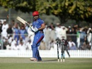 Samiullah Shenwari sees his stumps in disarray, United Arab Emirates v Afghanistan, 3rd T20I, Dubai, December 18, 2016