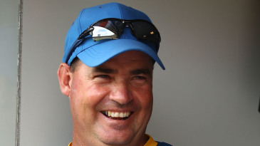 Mickey Arthur didn't look too nervous during the chase