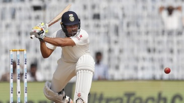 Karun Nair prepares to sweep