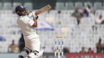 Karun Nair showcased all of his shots, including an upper cut