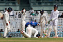 KL Rahul put down a difficult chance at short leg off the face of Keaton Jennings' bat, India v England, 5th Test, Chennai, 5th day, December 20, 2016