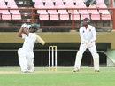 Shimron Hetmyer launches into a shot, Guyana v Trinidad & Tobago, Regional 4 Day Tournament, Providence, 4th day, December 19, 2016