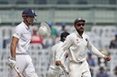 Virat Kohli celebrates as Alastair Cook is caught at leg slip, India v England, 5th Test, Chennai, 5th day, December 20, 2016