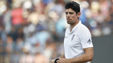 Alastair Cook's expression sums up his team's tour