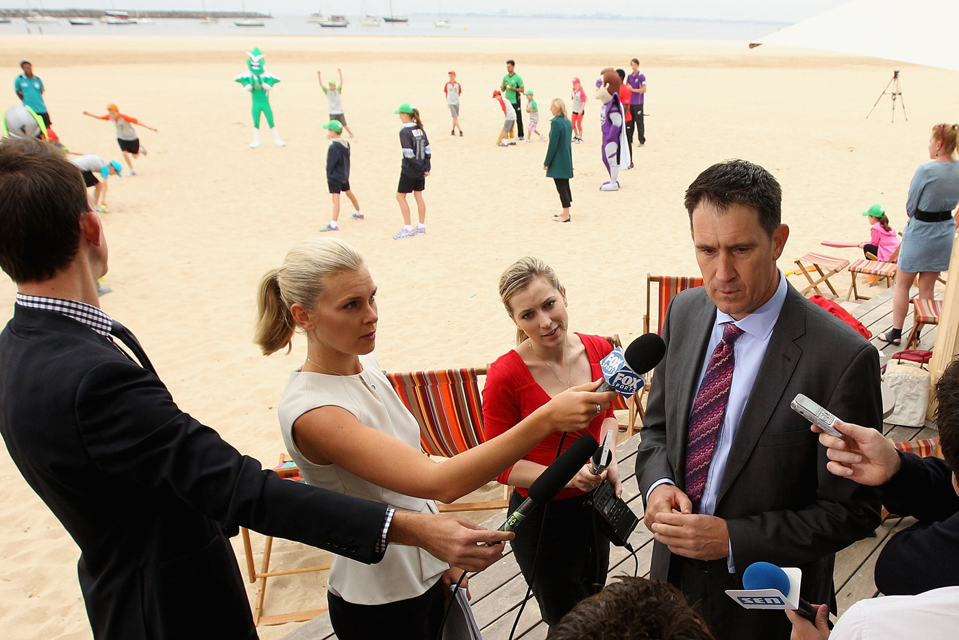 James Sutherland speaks to the media ahead of the BBL
