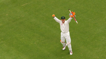 Adam Gilchrist celebrates the win