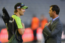 Shane Watson has a chat with Ricky Ponting before start of play, Melbourne Renegades v Sydney Thunder, Big Bash League 2016-17, Melbourne, December 22, 2016