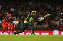Kurtis Patterson lobbed a catch to point in the first ball of the chase, Melbourne Renegades v Sydney Thunder, Big Bash League 2016-17, Melbourne, December 22, 2016