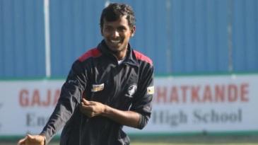 Tamil Nadu pacer T Natarajan at a practice session