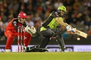 Thunder captain Ben Rohrer gets down to sweep one, Melbourne Renegades v Sydney Thunder, Big Bash League 2016-17, Melbourne, December 22, 2016
