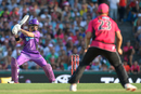 D'Arcy Short steps away and plays a cut, Sydney Sixers v Hobart Hurricanes, Big Bash League 2016-17, Sydney, December 23, 2016