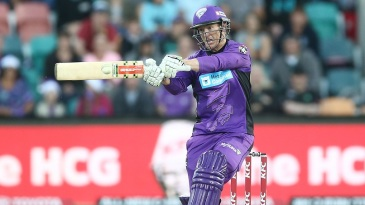 George Bailey attempts a cross-batted shot