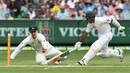 Nic Maddinson attempts a run out of Asad Shafiq, Australia v Pakistan, 2nd Test, 2nd day, Melbourne, December 27, 2016