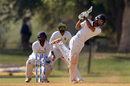 Chaitanya Bishnoi hits one over mid-on, Haryana v Jharkhand, Ranji Trophy, Dec 23-26 2016, Vadodara