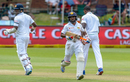 Kaushal Silva gets across the wicket to complete a run, South Africa v Sri Lanka, 1st Test, Port Elizabeth, 2nd day, December 27, 2016