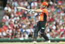 Shaun Marsh plays a pull shot, Sydney Sixers v Perth Scorchers, Big Bash League, Sydney, December 27, 2016