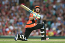 Ian Bell attempts a reverse sweep, Sydney Sixers v Perth Scorchers, Big Bash League, Sydney, December 27, 2016
