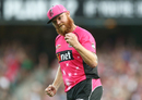 JDoug Bollinger celebrates after taking a catch, Sydney Sixers v Perth Scorchers, Big Bash League, Sydney, December 27, 2016