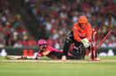 Sam Billings slides to avoid being run out by Sam Whiteman, Sydney Sixers v Perth Scorchers, Big Bash League, Sydney, December 27, 2016