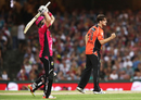 Mitchell Marsh celebrates after dismissing Sam Billings, Sydney Sixers v Perth Scorchers, Big Bash League, Sydney, December 27, 2016