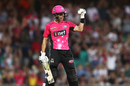 Johan Botha punches the air after hitting the winning shot, Sydney Sixers v Perth Scorchers, Big Bash League, Sydney, December 27, 2016