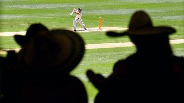 Fans watch David Warner bat at the MCG