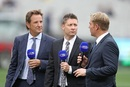Mark Nicholas, Michael Clarke and Shane Warne talk on television, Australia v Pakistan, 2nd Test, 3rd day, Melbourne, December 28, 2016