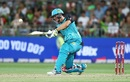 Jack Wildermuth drills one through the off side, Sydney Thunder v Brisbane Heat, Big Bash League 2016-17, Sydney, December 28, 2016