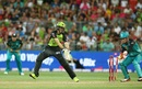 Kurtis Patterson is bowled for 36, Sydney Thunder v Brisbane Heat, Big Bash League 2016-17, Sydney, December 28, 2016