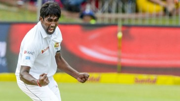 Nuwan Pradeep's wicket marked the 10000th lbw in Tests