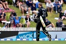 A dejected Martin Guptill walks back for a duck, New Zealand v Bangladesh, 2nd ODI, Nelson, December 29, 2016