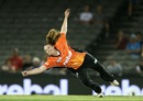 Anya Shrubsole puts in a valiant effort in the field, Renegades v Scorchers, Women's Big Bash League, Melbourne, December 29, 2016
